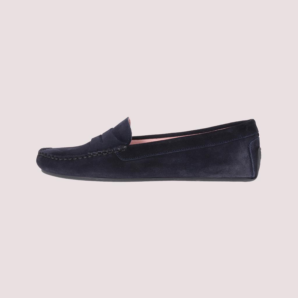Josephine כחול מוקסין מוקסינים נעליים שטוחות moccasin