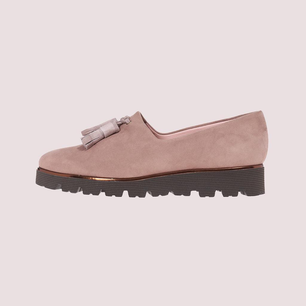 Charlize כאמל אפור נעלי בובה נעלי בלרינה נעליים שטוחות נעלי פלטפורמה ballerinas